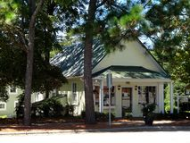 Charming Shop in Downtown Southern Pines, North Carolina Royalty Free Stock Photo