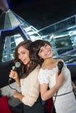 Charming singers Stock Photos