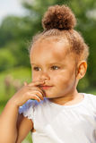 Charming small girl portrait in summer royalty free stock photos