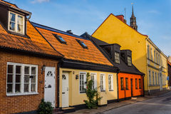 Free Charming Small Houses In Ystad Stock Photography - 43614012