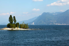Charming small island in Lake Maggiore Royalty Free Stock Image