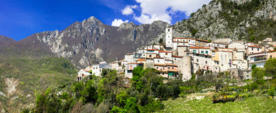 Charming small medieval mountain villages in Molise, Italy Stock Photography