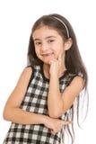 Charming smile adorable little girl whose teeth Stock Image