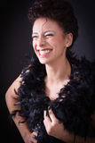 Charming smile - beautiyful black woman Royalty Free Stock Photography