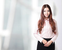 Charming smile face of business woman Stock Photography