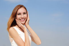 Charming smile happy woman Royalty Free Stock Photography