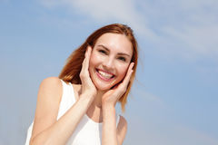 Charming smile happy woman Stock Images