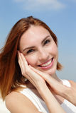 Charming smile happy woman Stock Photos