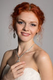 Charming smiling bride Royalty Free Stock Photo