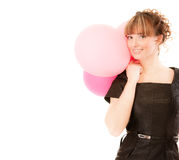 Charming smiling girl with balloons Stock Photo