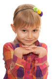 Charming smiling little girl Stock Photo