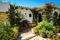 Charming Spanish courtyard Stock Image