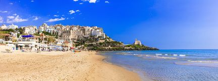 Charming Sperlonga town with nice beaches in Lazio region of Italy. royalty free stock image