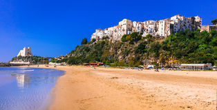 Charming Sperlonga town with nice beaches in Lazio region of Ita Stock Photos