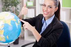 Charming Stewardess or business woman ,traveling or tourism conc Stock Images