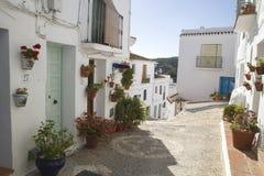 Charming street in Frigiliana, Malaga Royalty Free Stock Photo