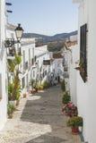 Charming street in Frigiliana Stock Image