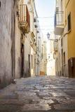 Charming street of Gallipoli, Italy Stock Photo