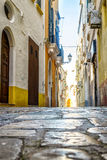 Charming street of Gallipoli, Italy Royalty Free Stock Photography