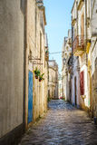 Charming street of Gallipoli, Italy Royalty Free Stock Image