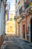 Charming street of Gallipoli, Italy Royalty Free Stock Images