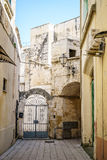 Charming street of Gallipoli, Italy Stock Photography