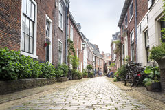 Charming street in Haarlem, The Netherlands. Charming street in old city of Haarlem, The Netherlands Royalty Free Stock Photo