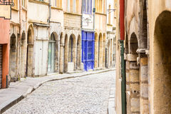 Charming street in Lyon, France Stock Image