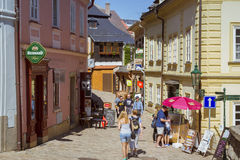Charming street with old hauses in Kutna Hora, Bohemia Stock Photography