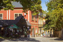 Charming street with old houses in Kutna Hora, Bohemia Stock Photography