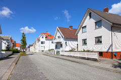 Charming street in Stavanger Stock Images