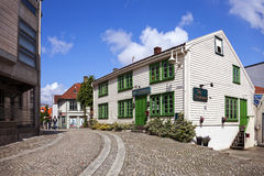 Charming street in Stavanger Royalty Free Stock Photography