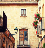 Charming street in Tarragona Royalty Free Stock Images