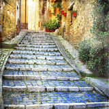 Charming streets of old villages Stock Photo