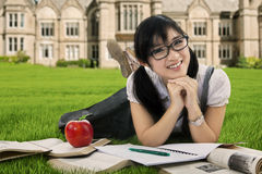Charming student getting an idea Stock Images