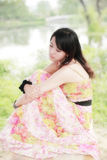 Charming summer girl stock photo