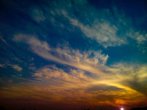 Charming sunset. A beautiful sunset and sky Royalty Free Stock Photos