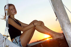 Charming teen girl Stock Images