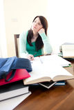 Charming teen girl studying Royalty Free Stock Image