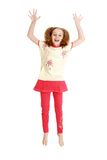 Charming teenage girl jumping Stock Photography
