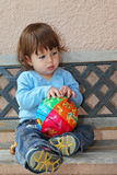 The charming thoughtful  little boy Royalty Free Stock Image