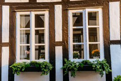 Charming town in Germany . A beautiful old white house Royalty Free Stock Photos