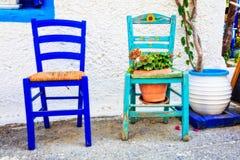 Charming traditional street bars and tavernas of Greece. Kos isl Stock Photo