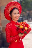 Charming Vietnamese bride Royalty Free Stock Photo