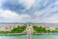Charming view of Trocadero and Palais de Chaillot. In Paris, France royalty free stock photo