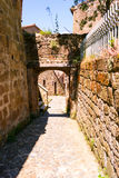 Charming village, with narrow streets Royalty Free Stock Image