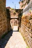 Charming village, with narrow streets. In Sorano city,Italy Royalty Free Stock Image