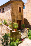 Charming village, with narrow streets Stock Photos