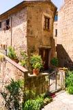 Charming village, with narrow streets. In Sorano city,Italy Stock Photos
