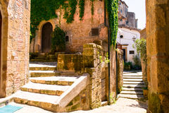 Charming village, with narrow streets. In Sorano city,Italy Stock Photography